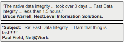 Fast Data Integrity Quotes